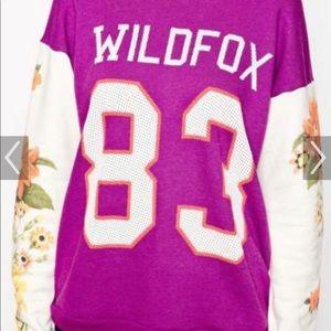 Wildfox baggy sweatshirt purple